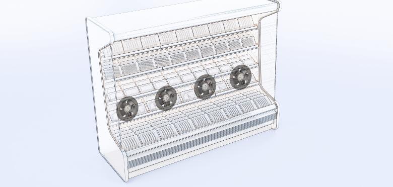 Ny flad blæser til køleskabe og fryseskabe