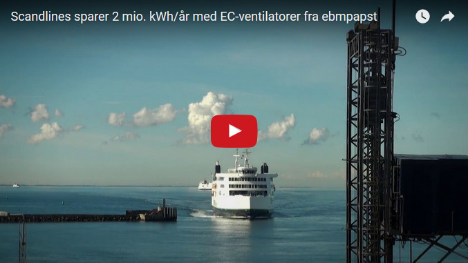 Scandlines sparer 2 mio kWh/år med ebmpapst