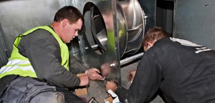 Installation i ventilationsanlæg