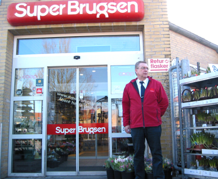 SuperBrugsen i Skælskør - uddeler Poul Holm